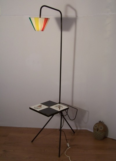 Tripod floor lamp from the 50s