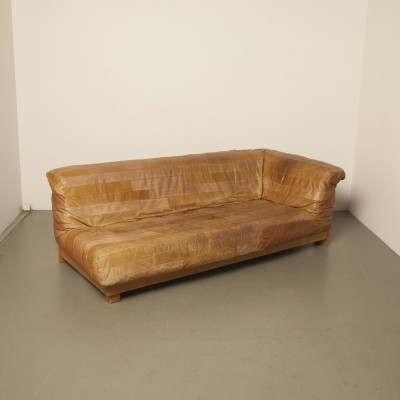 Patchwork leather sofa, 1980s
