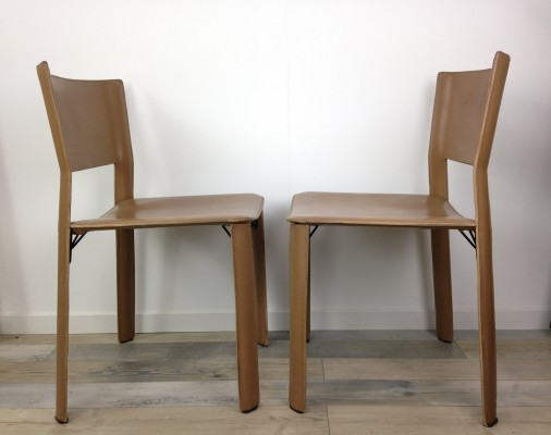 Set of 6 S91 dinner chairs by Giancarlo Vegni for Fasem, 1980s
