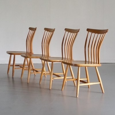 Set of 4 Chairs by Bengt Åkerblom & Gunnar Eklöf for Åkerblom, 1950s