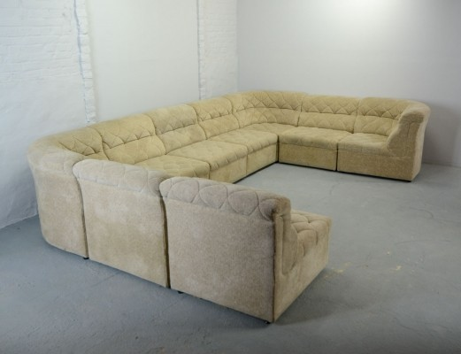 XL Modular / Sectional Sofaset, 9 elements by Laauser, 1970s