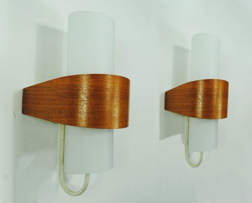 Pair of NX40/00 wall lamps by Louis Kalff for Philips, 1960s