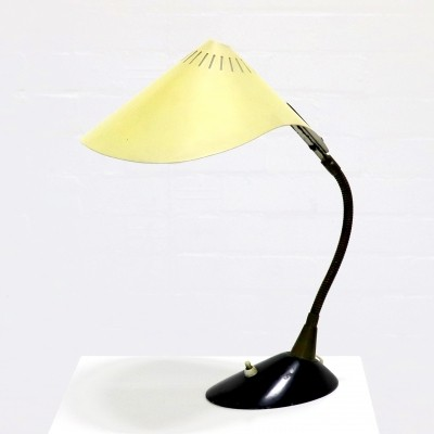 Mid Century Philips Desk Lamp with Perforated Metal Shade, 1950's
