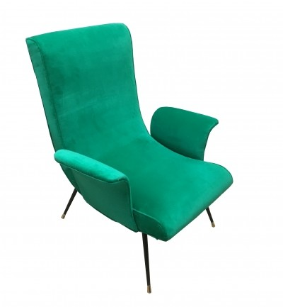 1950S Italian Armchair With Floating Arms