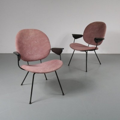 Pair of Dutch easy chairs by W. Gispen for Kembo