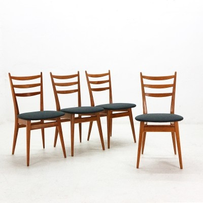 Set of 4 Dining Chairs, 1950s