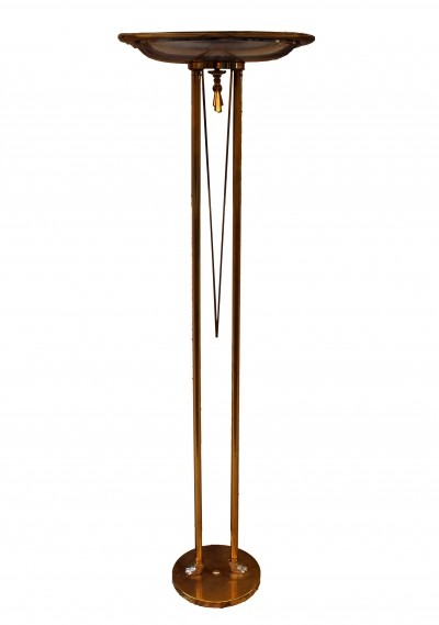 Italian Brass Uplighter Floor Lamp, 1970s