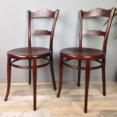Pair of Early 20th Century Thonet 'N°100' Chairs