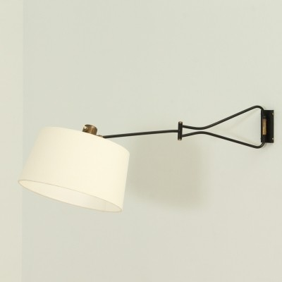 Double Arm Wall Lamp by Maison Lunel, 1950's