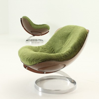 Pair of Sphere Lounge Chairs by Boris Tabacoff