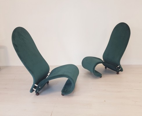 Model G chairs by Verner Panton for Fritz Hansen, 1970s