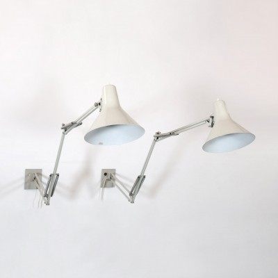 Pair of wall lamps by Jacob Jacobsen for Luxo, 1950s