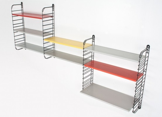 Multi colored Modular wall unit by Tomado Netherlands 1970s