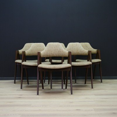 Set of 6 Kai Kristiansen dinner chairs, 1960s