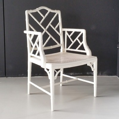 Vintage Faux Bamboo Chippendale Chair, 1980s