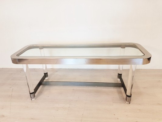 One of a kind console table by Sandro Petti for Angolo Metellarte, 1960s