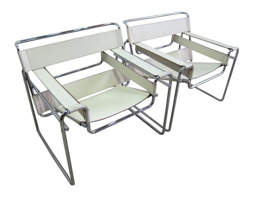 Vintage design Knoll B3 'wassily' chairs by Marcel Breuer