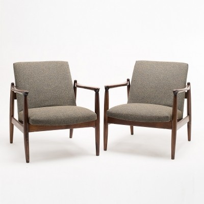 Pair of GFM 64 armchairs by E. Homa