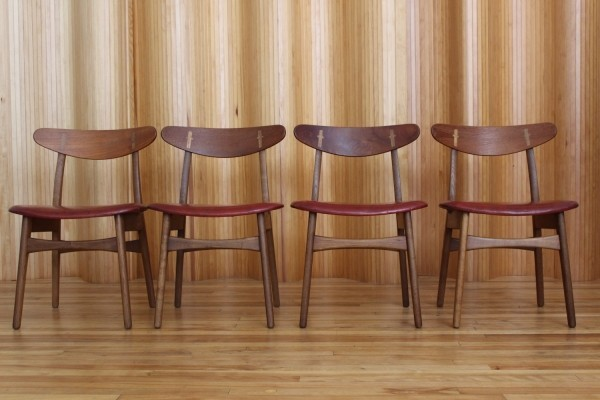 Set of four Hans Wegner CH30 dining chairs by Carl Hansen & Son, Denmark