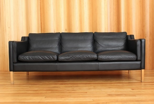 Classic Danish leather sofa by Stouby