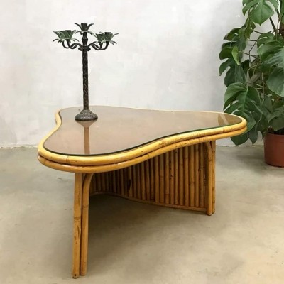 Tropical vintage bamboo coffee table
