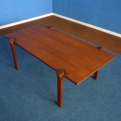 Teak Coffee Table by Arne Vodder for Cado Denmark, 1960s