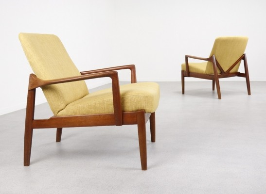 2 x FD 125 lounge chair by Edvard Kindt Larsen & Tove Kindt Larsen for France & Daverkosen, 1950s