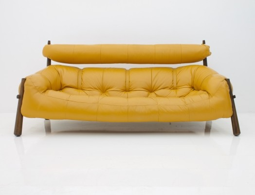 MP-81 Leather Sofa by Percival Lafer