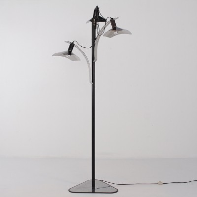 Rare 'Corolla' floor lamp by Giovanni Grignani