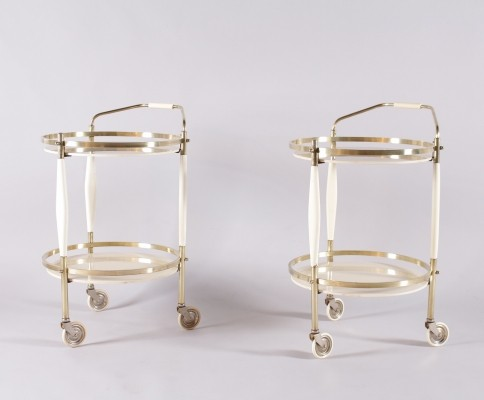 Italian circular serving trolleys