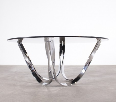 Atomic chrome coffee table, 1970s