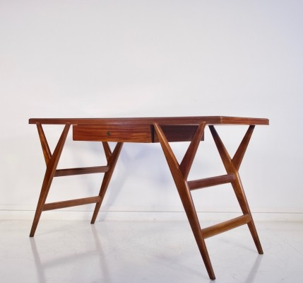 Mahogany Desk or Console Table, circa 1950