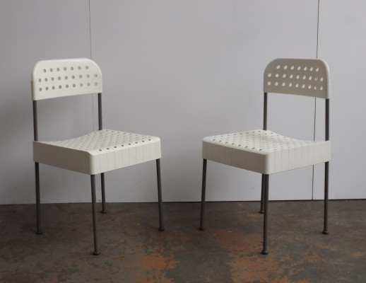 2 x The Box dinner chair by Enzo Mari for Anomia Castelli, 1960s