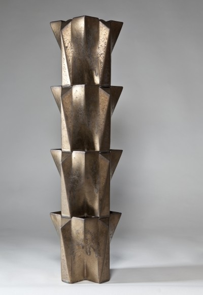 Bronze glazed 'Multiple' Tulip Tower by Jan van der Vaart, 1990