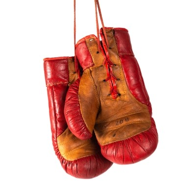 Original leather boxing gloves, 1960s