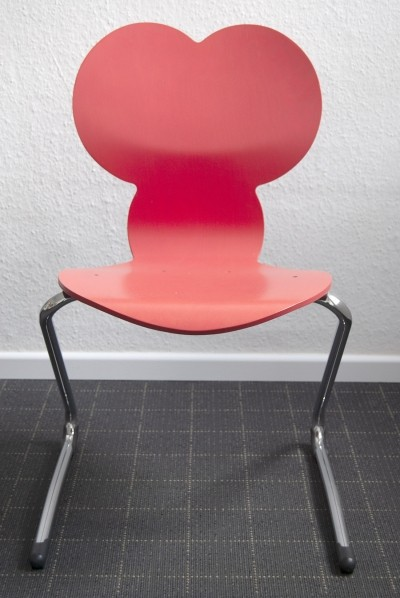 Red Verner Panton 'Pantoflex' Children Chair by VS Möbel, 1990s