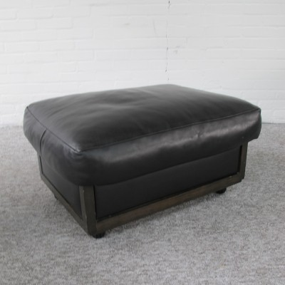 Mid-Century Leather ottoman by Giorgetti, 1980s