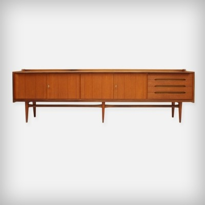 Large German Teak Sideboard by Bartels-Werken GmbH, 1960s