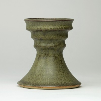 Ceramic vase with green glaze by Jan van der Vaart, 1973