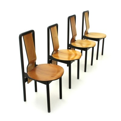 Set of 4 Dining Chairs by Pierre Cardin, 1980s