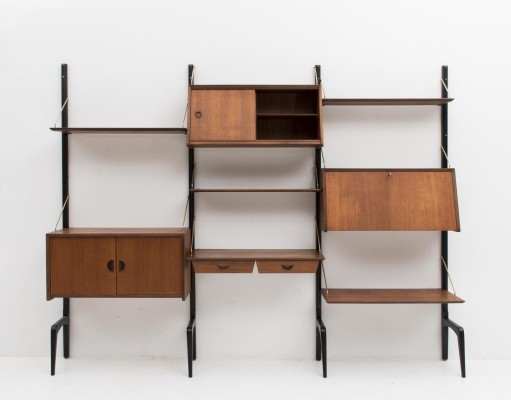 Wall unit by Louis van Teeffelen for Wébé, Dutch design 1950s