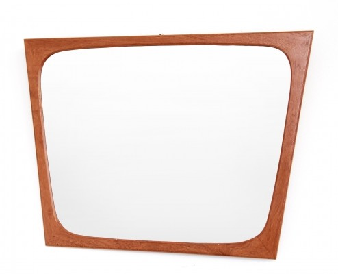 Vintage teak danish design mirror by Aarhus Glasimport og Glassliberi