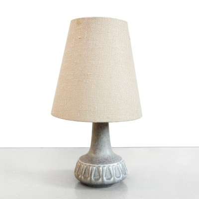 Vintage danish design ceramic table lamp in blue grey