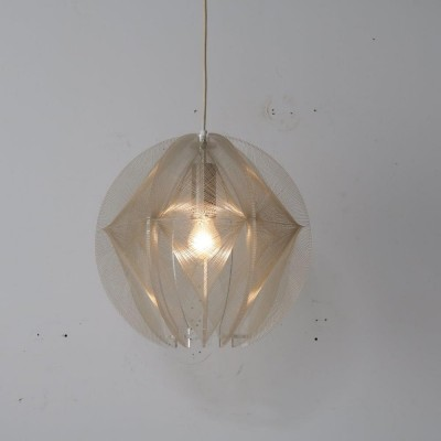 1970s Lucite hanging lamp by Paul Secon for Sompex