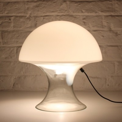 Italian mushroom table glass lamp by Gino Vistosi