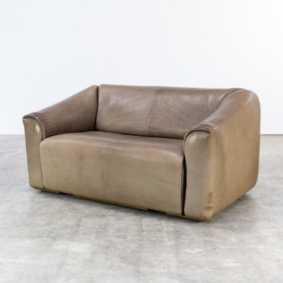 Superbe DeSede U0027DS47u0027 Leather Two Seat Sofa