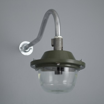 Vintage green RAF wall lights