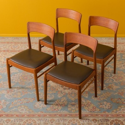 Set of 4 Danish teak dining chairs by KS Møbler, 1960s
