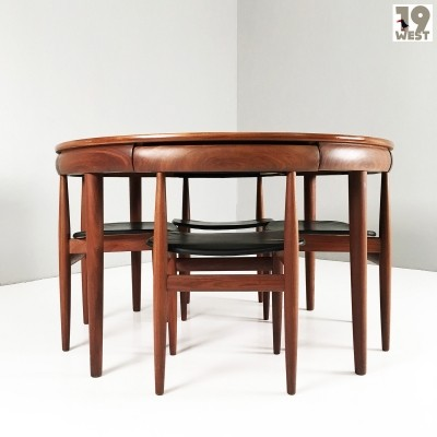 A Roundette dining suite by Hans Olsen for Frem Rojle