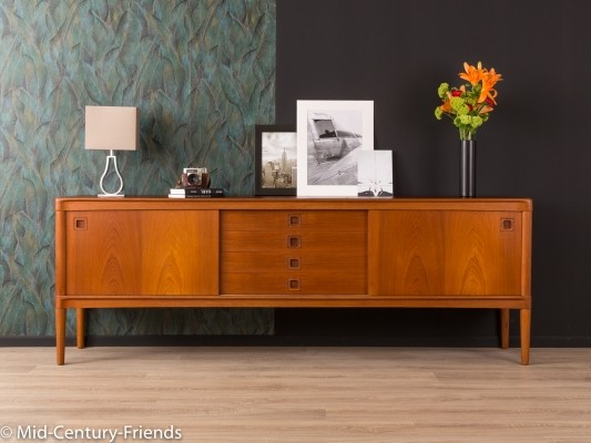 Danish teak sideboard by H.W. Klein for Bramin, 1960s